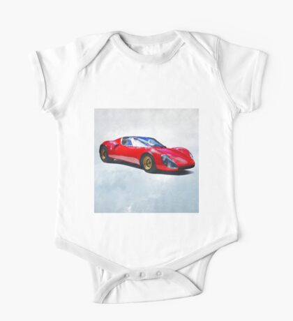 Watercolor painting of a supercar One Piece - Short Sleeve