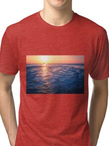 Baltic Sea sunset on the island Poel Tri-blend T-Shirt