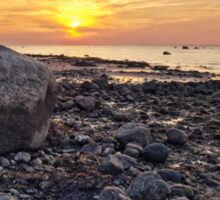 Baltic Sea sunset on the island Poel Sticker