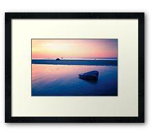 Baltic Sea sunset on the island Poel Framed Print
