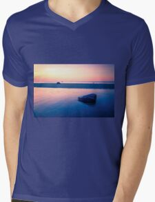 Baltic Sea sunset on the island Poel Mens V-Neck T-Shirt