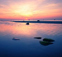 Baltic Sea sunset on the island Poel by novopics