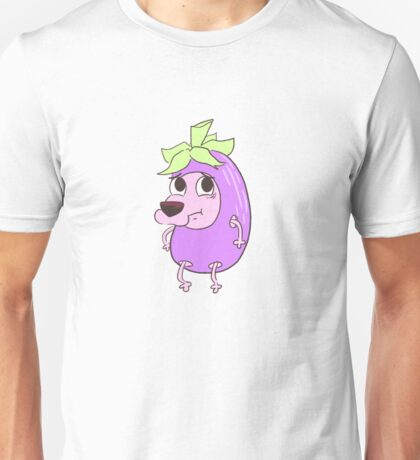 Eggplant Courage Unisex T-Shirt