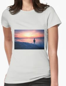 Baltic Sea sunset on the island Poel Womens Fitted T-Shirt