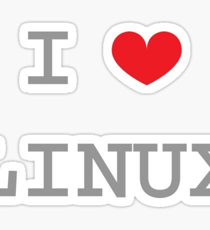 I <3 LINUX Sticker