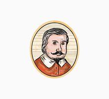 Medieval Aristocrat Gentleman Oval Woodcut Unisex T-Shirt