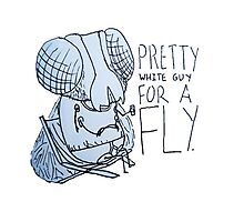 Pretty White Guy for a Fly Photographic Print