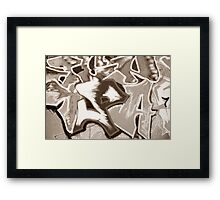 GRAFFITI III Framed Print