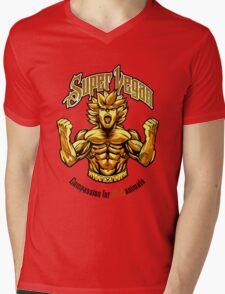 SUPER VEGAN Mens V-Neck T-Shirt
