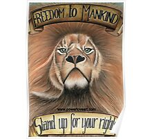 F.T.M Lion of Freedom Poster