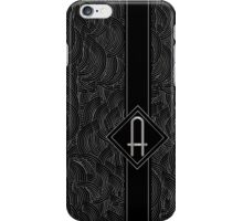 1920s Jazz Deco Swing Monogram black & silver letter A iPhone Case/Skin