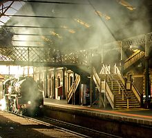 Geelong Station Foot Bridge City of Melbourne Steam Train #5 by bekyimage