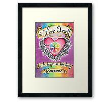 Love Oneself Framed Print