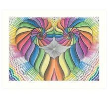 Love Heart spiral Art Print