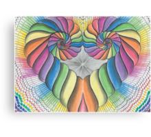 Love Heart spiral Canvas Print