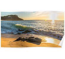 Costa Brava Beach Sunrise 2 Poster