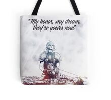 Cloud Strife and Zack Fair Last Moment Tote Bag