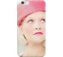 Portrait of beautiful young blond woman iPhone Case/Skin