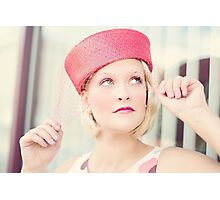 Portrait of beautiful young blond woman Photographic Print