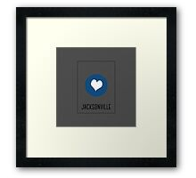 I love Jacksonville Framed Print