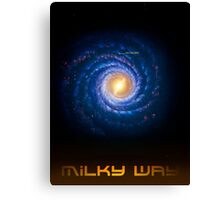 Milky Way - You Are Here - Version 2 Canvas Print