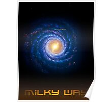 Milky Way - You Are Here - Version 2 Poster