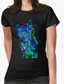 BRILLIANT CAT 5 Womens Fitted T-Shirt