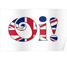 OI! Union Jack, British Slang Poster