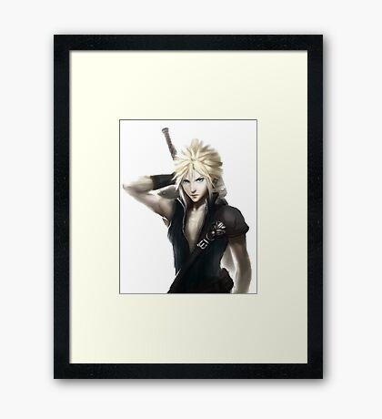 Cloud Strife Final Fantasy VII Advent Children Framed Print
