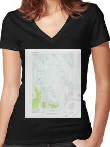 USGS TOPO Map Alaska AK Yakutat C-3 360495 1959 63360 Women's Fitted V-Neck T-Shirt