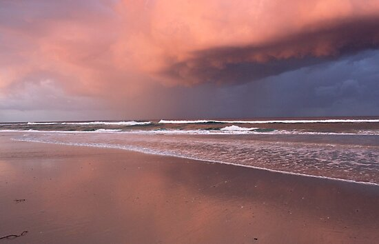 Storm over Kingscliff Beach  by gail woodbury