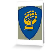 46th Infantry Division 'Ironfist' (United States) Greeting Card