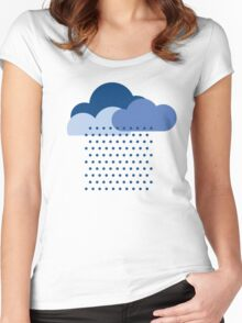 We love the rain! weather, cloud, water, autumn, spring, water, raindrop  Women's Fitted Scoop T-Shirt
