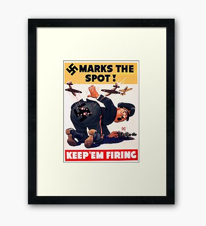 WW2 propaganda print - great reproduction propaganda poster - Hitler / Nazi  Framed Print