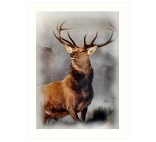 MONARCH OF THE GLEN, Digital Painting of this famous Stag Art Print