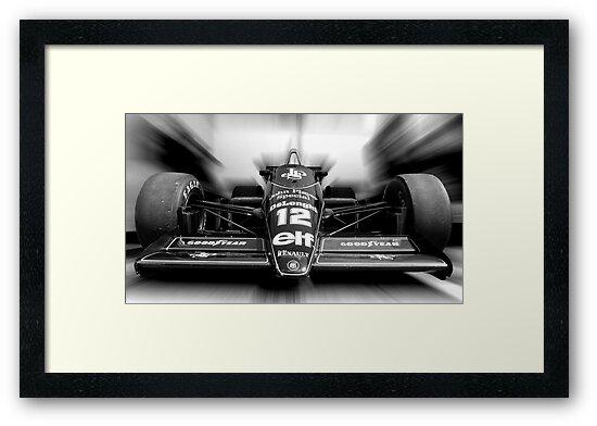 Ayrton Senna (Black & White) by Tom Clancy