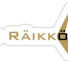 Kimi Raikkonen (Black & Gold) Sticker