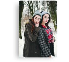 Two pretty cuter teenagers  Canvas Print