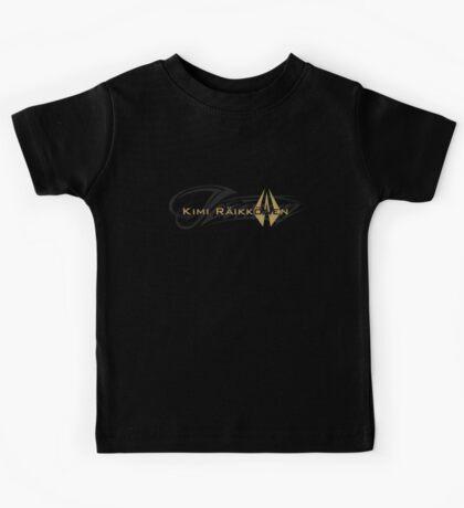 Kimi Raikkonen - Iceman (Black & Gold) Kids Tee