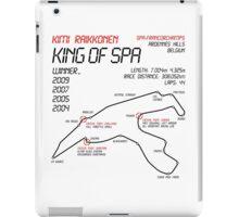 Kimi Raikkonen - King of Spa! iPad Case/Skin