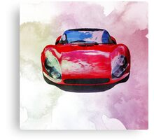 Watercolor painting of a supercar Canvas Print