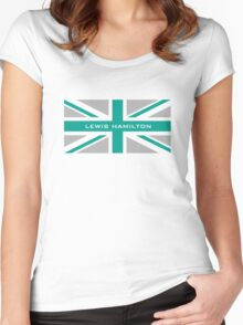 Lewis Hamilton (Team colours) Women's Fitted Scoop T-Shirt