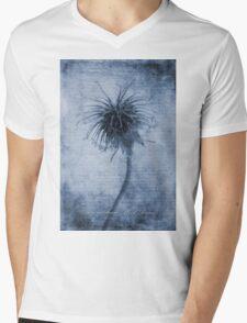 Geum urbanum Cyanotype Mens V-Neck T-Shirt