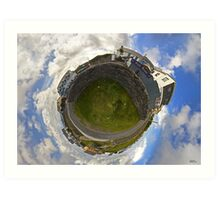 Tigh Ruairi - Inisheer Village (Sky out)  Art Print