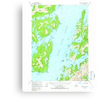 USGS TOPO Map Alaska AK Seward B-3 358911 1950 63360 Canvas Print