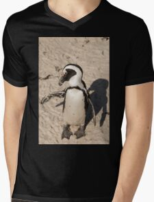 Penguin shadow boxing, South Africa Mens V-Neck T-Shirt