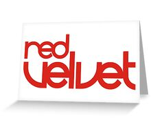 Red Velvet RV Seal Logo K-pop T-Shirt Greeting Card