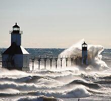 St Joseph North Pier Lighthouse - 37 by Debbie Mueller