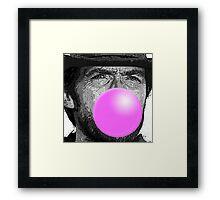 Clint Bubblegum Framed Print