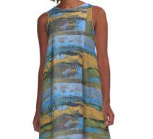 landscape blue A-Line Dress